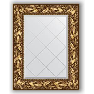 Зеркало с гравировкой поворотное Evoform Exclusive-G 59x76 см, в багетной раме - византия золото 99 мм (BY 4027)