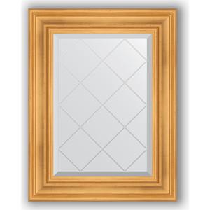 Зеркало с гравировкой поворотное Evoform Exclusive-G 59x76 см, в багетной раме - травленое золото 99 мм (BY 4030) зеркало с гравировкой поворотное evoform exclusive g 134x189 см в багетной раме травленое золото 99 мм by 4503
