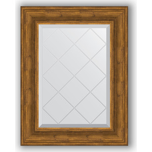 Зеркало с гравировкой поворотное Evoform Exclusive-G 59x76 см, в багетной раме - травленая бронза 99 мм (BY 4032) зеркало с гравировкой поворотное evoform exclusive g 69x91 см в багетной раме травленая бронза 99 мм by 4118