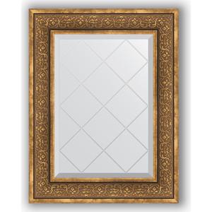 Зеркало с гравировкой поворотное Evoform Exclusive-G 59x76 см, в багетной раме - вензель бронзовый 101 мм (BY 4034) зеркало с гравировкой поворотное evoform exclusive g 69x91 см в багетной раме вензель бронзовый 101 мм by 4120