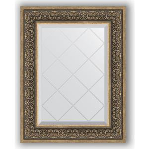 Зеркало с гравировкой поворотное Evoform Exclusive-G 59x76 см, в багетной раме - вензель серебряный 101 мм (BY 4035) зеркало в багетной раме evoform definite 73x73 см вензель серебряный 101 мм by 3160