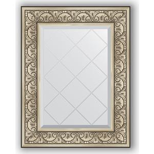 Зеркало с гравировкой поворотное Evoform Exclusive-G 60x77 см, в багетной раме - барокко серебро 106 мм (BY 4037) зеркало с гравировкой поворотное evoform exclusive g 70x160 см в багетной раме барокко золото 106 мм by 4165