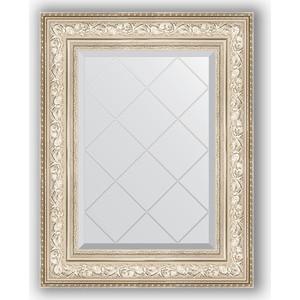 Зеркало с гравировкой поворотное Evoform Exclusive-G 60x78 см, в багетной раме - виньетка серебро 109 мм (BY 4039) зеркало с фацетом в багетной раме поворотное evoform exclusive 80x170 см виньетка серебро 109 мм by 3608