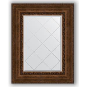 Зеркало с гравировкой поворотное Evoform Exclusive-G 62x80 см, в багетной раме - состаренная бронза орнаментом 120 мм (BY 4042)
