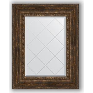 Зеркало с гравировкой поворотное Evoform Exclusive-G 62x80 см, в багетной раме - состаренное дерево с орнаментом 120 мм (BY 4043) цены