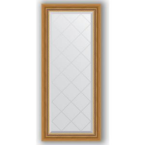 Зеркало с гравировкой поворотное Evoform Exclusive-G 53x123 см, в багетной раме - состаренное золото плетением 70 мм (BY 4045)