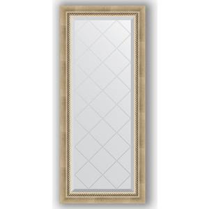Зеркало с гравировкой поворотное Evoform Exclusive-G 53x123 см, в багетной раме - состаренное серебро с плетением 70 мм (BY 4046) зеркало evoform exclusive g 128х73 состаренное серебро с плетением
