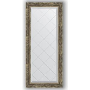 Зеркало с гравировкой поворотное Evoform Exclusive-G 53x123 см, в багетной раме - старое дерево плетением 70 мм (BY 4049)