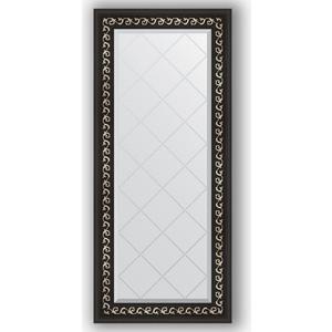 Зеркало с гравировкой поворотное Evoform Exclusive-G 55x124 см, в багетной раме - черный ардеко 81 мм (BY 4053)