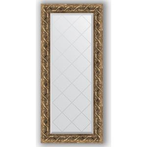 Зеркало с гравировкой поворотное Evoform Exclusive-G 56x125 см, в багетной раме - фреска 84 мм (BY 4055)