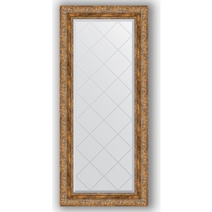 Зеркало с гравировкой поворотное Evoform Exclusive-G 55x125 см, в багетной раме - виньетка античная бронза 85 мм (BY 4058)