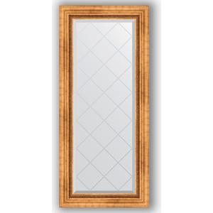 Зеркало с гравировкой поворотное Evoform Exclusive-G 56x126 см, в багетной раме - римское золото 88 мм (BY 4060) зеркало с гравировкой поворотное evoform exclusive g 56x74 см в багетной раме римское золото 88 мм by 4017