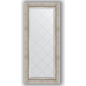 Зеркало с гравировкой поворотное Evoform Exclusive-G 56x126 см, в багетной раме - римское серебро 88 мм (BY 4061) зеркало evoform exclusive g 186х131 римское серебро