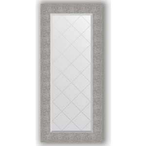 Зеркало с гравировкой поворотное Evoform Exclusive-G 56x126 см, в багетной раме - чеканка серебряная 90 мм (BY 4066)