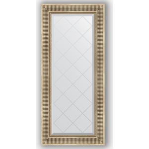 Зеркало с гравировкой поворотное Evoform Exclusive-G 57x127 см, в багетной раме - серебряный акведук 93 мм (BY 4067)