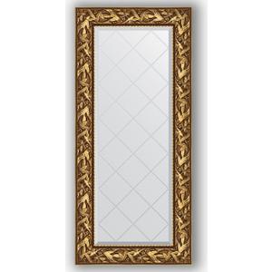 Зеркало с гравировкой поворотное Evoform Exclusive-G 59x128 см, в багетной раме - византия золото 99 мм (BY 4070)