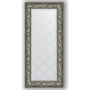 Зеркало с гравировкой поворотное Evoform Exclusive-G 59x128 см, в багетной раме - византия серебро 99 мм (BY 4071)