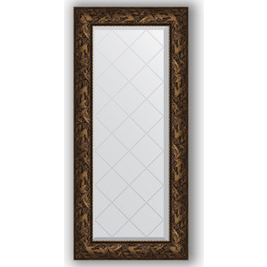 Зеркало с гравировкой поворотное Evoform Exclusive-G 59x128 см, в багетной раме - византия бронза 99 мм (BY 4072)