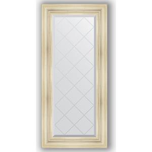 Зеркало с гравировкой поворотное Evoform Exclusive-G 59x128 см, в багетной раме - травленое серебро 99 мм (BY 4074)