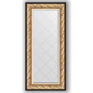 Зеркало с гравировкой поворотное Evoform Exclusive-G 60x130 см, в багетной раме - барокко золото 106 мм (BY 4079) зеркало с фацетом в багетной раме поворотное evoform exclusive 80x170 см барокко золото 106 мм by 1311