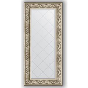 Зеркало с гравировкой поворотное Evoform Exclusive-G 60x130 см, в багетной раме - барокко серебро 106 мм (BY 4080) зеркало с гравировкой поворотное evoform exclusive g 70x160 см в багетной раме барокко золото 106 мм by 4165