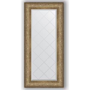 Зеркало с гравировкой поворотное Evoform Exclusive-G 60x130 см, в багетной раме - виньетка античная бронза 109 мм (BY 4081)