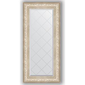 Зеркало с гравировкой поворотное Evoform Exclusive-G 60x130 см, в багетной раме - виньетка серебро 109 мм (BY 4082) зеркало с фацетом в багетной раме поворотное evoform exclusive 80x170 см виньетка серебро 109 мм by 3608