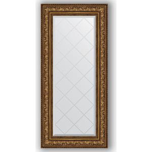 Зеркало с гравировкой поворотное Evoform Exclusive-G 60x130 см, в багетной раме - виньетка состаренная бронза 109 мм (BY 4083) зеркало в багетной раме поворотное evoform definite 54x104 см виньетка состаренная бронза 56 мм by 3073
