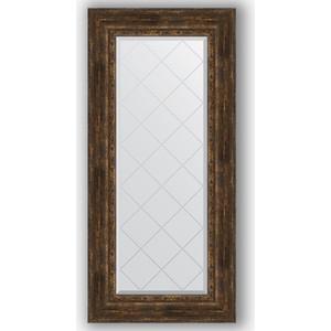 Зеркало с гравировкой поворотное Evoform Exclusive-G 62x132 см, в багетной раме - состаренное дерево с орнаментом 120 мм (BY 4086) цены