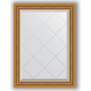 Зеркало с гравировкой поворотное Evoform Exclusive-G 63x86 см, в багетной раме - состаренное золото с плетением 70 мм (BY 4088) зеркало evoform exclusive g 86х63 состаренное золото с плетением