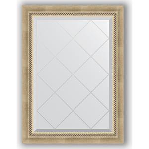 Зеркало с гравировкой поворотное Evoform Exclusive-G 63x86 см, в багетной раме - состаренное серебро с плетением 70 мм (BY 4089) зеркало evoform exclusive g 128х73 состаренное серебро с плетением