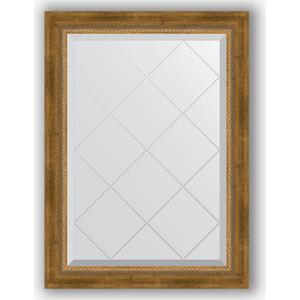 Фото - Зеркало с гравировкой поворотное Evoform Exclusive-G 63x86 см, в багетной раме - состаренная бронза с плетением 70 мм (BY 4090) зеркало с гравировкой поворотное evoform exclusive g 93x168 см в багетной раме состаренная бронза с плетением 70 мм by 4391
