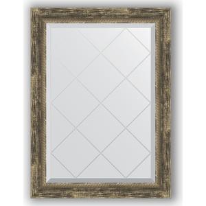 Зеркало с гравировкой поворотное Evoform Exclusive-G 63x86 см, в багетной раме - старое дерево плетением 70 мм (BY 4092)