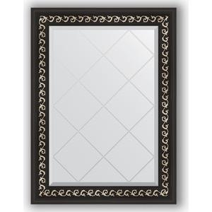 Зеркало с гравировкой поворотное Evoform Exclusive-G 65x87 см, в багетной раме - черный ардеко 81 мм (BY 4096) косметика ардеко