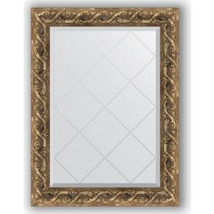 Зеркало с гравировкой поворотное Evoform Exclusive-G 66x88 см, в багетной раме - фреска 84 мм (BY 4098) зеркало с гравировкой поворотное evoform exclusive g 96x121 см в багетной раме фреска 84 мм by 4356