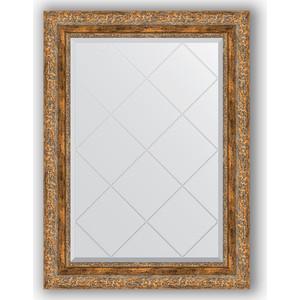 Зеркало с гравировкой поворотное Evoform Exclusive-G 65x87 см, в багетной раме - виньетка античная бронза 85 мм (BY 4101)