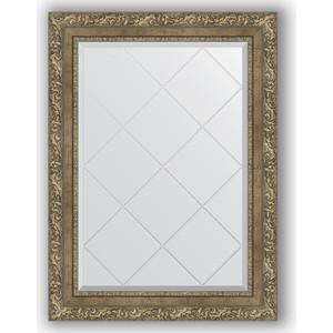 Зеркало с гравировкой поворотное Evoform Exclusive-G 65x87 см, в багетной раме - виньетка античная латунь 85 мм (BY 4102)