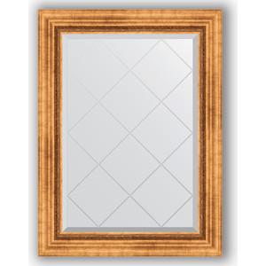 Зеркало с гравировкой поворотное Evoform Exclusive-G 66x89 см, в багетной раме - римское золото 88 мм (BY 4103) зеркало с гравировкой поворотное evoform exclusive g 56x74 см в багетной раме римское золото 88 мм by 4017