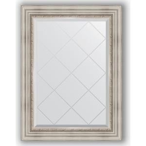 Зеркало с гравировкой поворотное Evoform Exclusive-G 66x89 см, в багетной раме - римское серебро 88 мм (BY 4104)