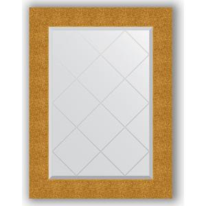 Зеркало с гравировкой поворотное Evoform Exclusive-G 66x89 см, в багетной раме - чеканка золотая 90 мм (BY 4108)