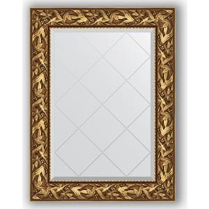 Зеркало с гравировкой поворотное Evoform Exclusive-G 69x91 см, в багетной раме - византия золото 99 мм (BY 4113)