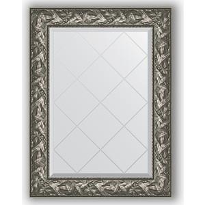 Зеркало с гравировкой поворотное Evoform Exclusive-G 69x91 см, в багетной раме - византия серебро 99 мм (BY 4114) зеркало с гравировкой поворотное evoform exclusive g 69x91 см в багетной раме травленая бронза 99 мм by 4118