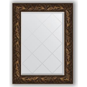 Зеркало с гравировкой поворотное Evoform Exclusive-G 69x91 см, в багетной раме - византия бронза 99 мм (BY 4115) зеркало с гравировкой поворотное evoform exclusive g 69x91 см в багетной раме травленая бронза 99 мм by 4118