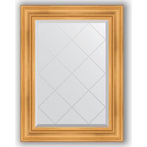 Зеркало с гравировкой поворотное Evoform Exclusive-G 69x91 см, в багетной раме - травленое золото 99 мм (BY 4116) зеркало с гравировкой поворотное evoform exclusive g 69x91 см в багетной раме травленая бронза 99 мм by 4118