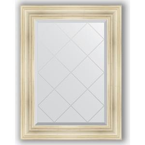 Зеркало с гравировкой поворотное Evoform Exclusive-G 69x91 см, в багетной раме - травленое серебро 99 мм (BY 4117) фото