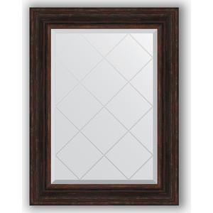Зеркало с гравировкой поворотное Evoform Exclusive-G 69x91 см, в багетной раме - темный прованс 99 мм (BY 4119) зеркало с гравировкой поворотное evoform exclusive g 69x91 см в багетной раме травленая бронза 99 мм by 4118