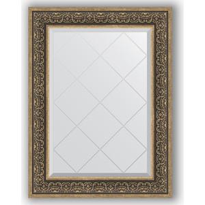 Зеркало с гравировкой поворотное Evoform Exclusive-G 69x91 см, в багетной раме - вензель серебряный 101 мм (BY 4121) зеркало в багетной раме evoform definite 73x73 см вензель серебряный 101 мм by 3160