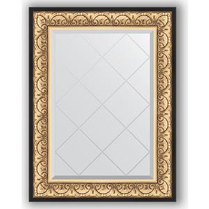 Зеркало с гравировкой поворотное Evoform Exclusive-G 70x92 см, в багетной раме - барокко золото 106 мм (BY 4122) зеркало с гравировкой поворотное evoform exclusive g 70x160 см в багетной раме барокко золото 106 мм by 4165