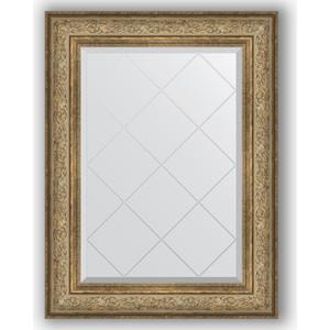 Зеркало с гравировкой поворотное Evoform Exclusive-G 70x93 см, в багетной раме - виньетка античная бронза 109 мм (BY 4124)