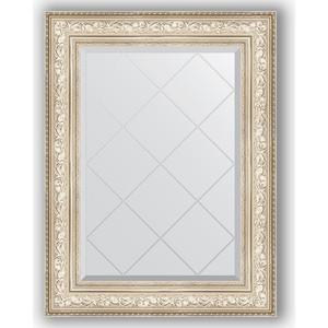 Зеркало с гравировкой поворотное Evoform Exclusive-G 70x93 см, в багетной раме - виньетка серебро 109 мм (BY 4125) зеркало с фацетом в багетной раме поворотное evoform exclusive 80x170 см виньетка серебро 109 мм by 3608